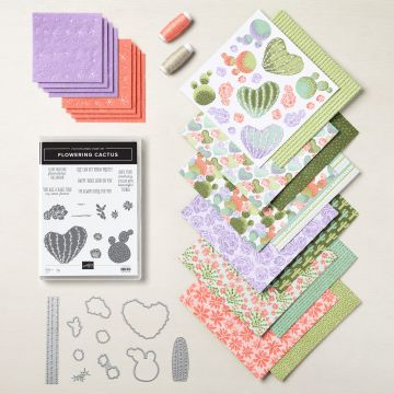 The Flowering Cactus Product Medley from Stampin' Up!  Grab yours today to create today's Simple Saturday Card