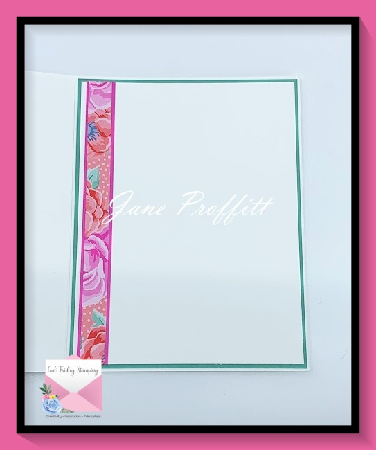 Don't forget the inside of the card.  I brought in some of the designer series paper to the inside of the card.