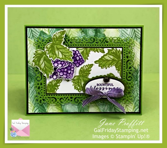 Simple stamping, designer series paper and a green with envy card.