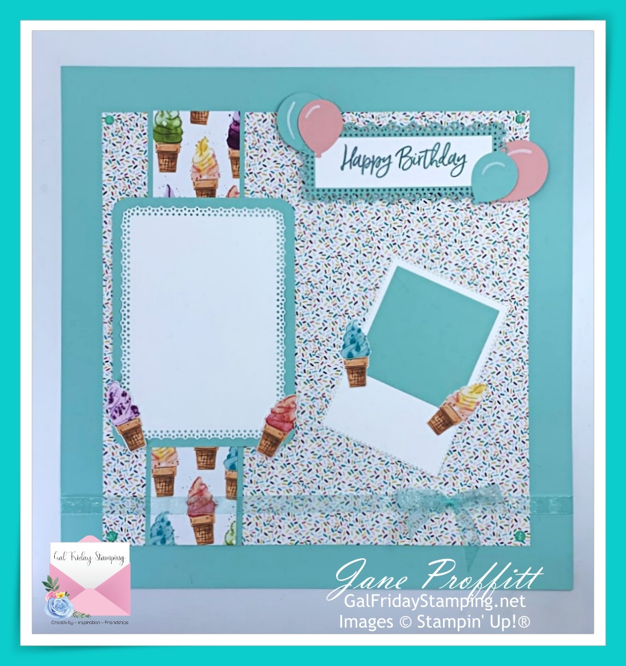 Take those photos out of those shoeboxes and display them on a beautiful birthday page.