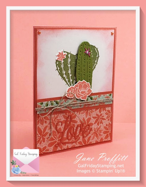 Flowering Cactus Product Medley in Flirty Flamingo card stock.