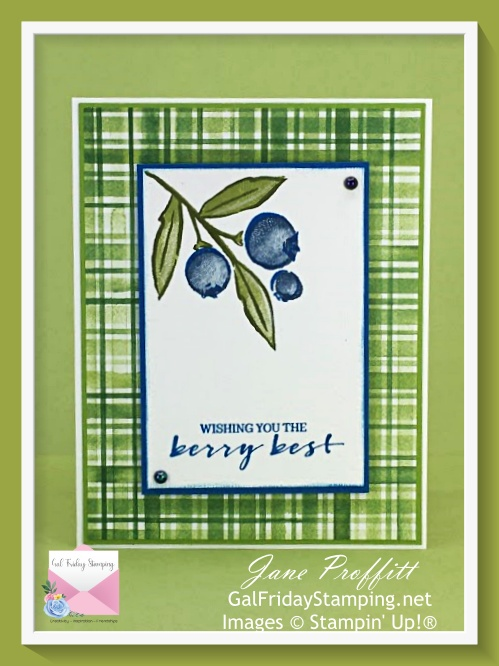 Wishing the you very best with the Berry Blessings stamp set.
