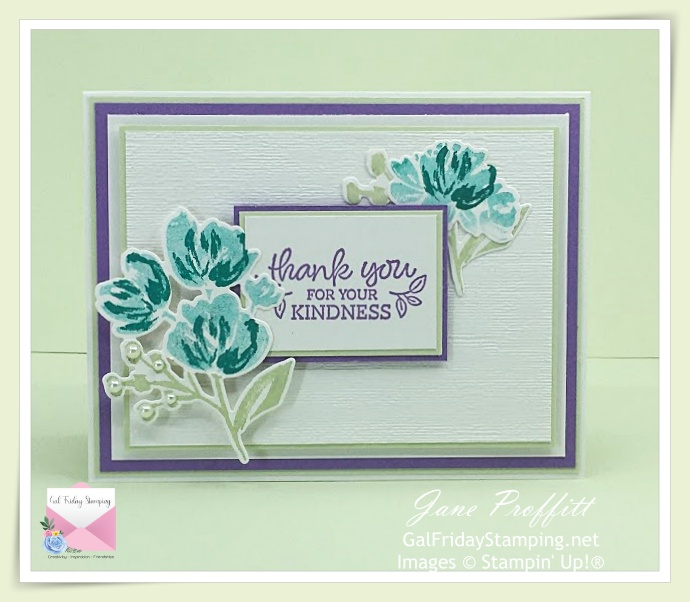 Beautiful colors and lots of layers for this card.
