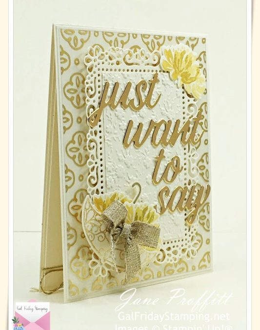 Very Vanilla and Gold Foil Fine Art Floral