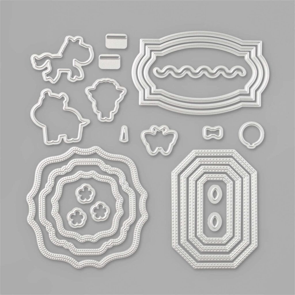 Die collection called Hippo & Friends.  They coordinate with the Hippo Happiness stamp set from Stampin' Up!