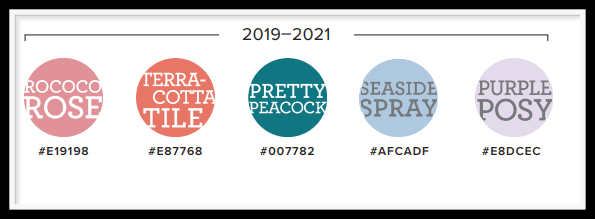 2019-2021 Retiring In-Colors from Stampin' Up!