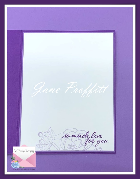 Don't forget the inside of your card.  I pulled the flower from the front of the card and also stamped a sentiment.