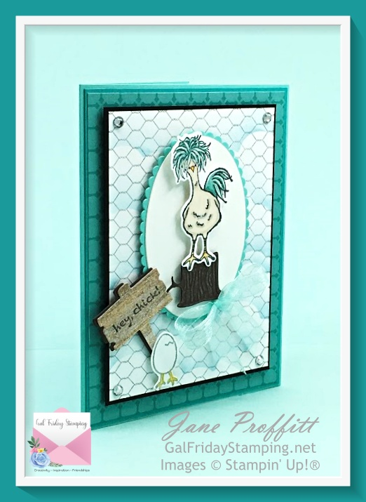 Hey Chick stamp set and matching dies were used in today's card.
