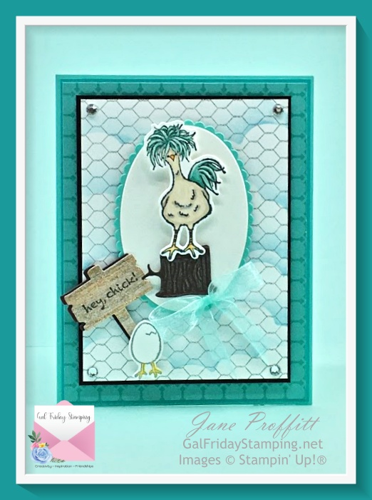 We are headed to the (funny) farm this week with the adorable and limited edition of the Hey Chick Stamp bundle.