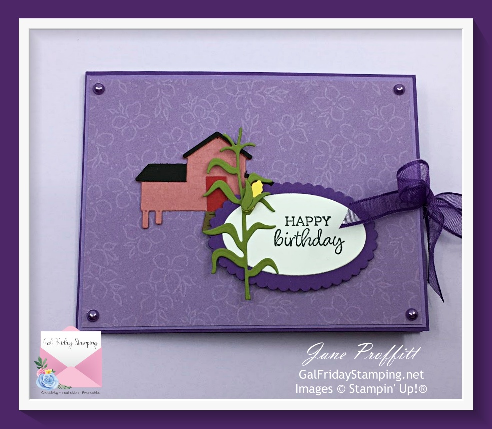 Hey Chick Happy Birthday Card from Stampin' Up! created by Gal Friday Stamping.