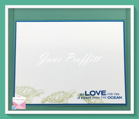 Don't forget the inside when you create with Whale of a Time or any other stamp set.