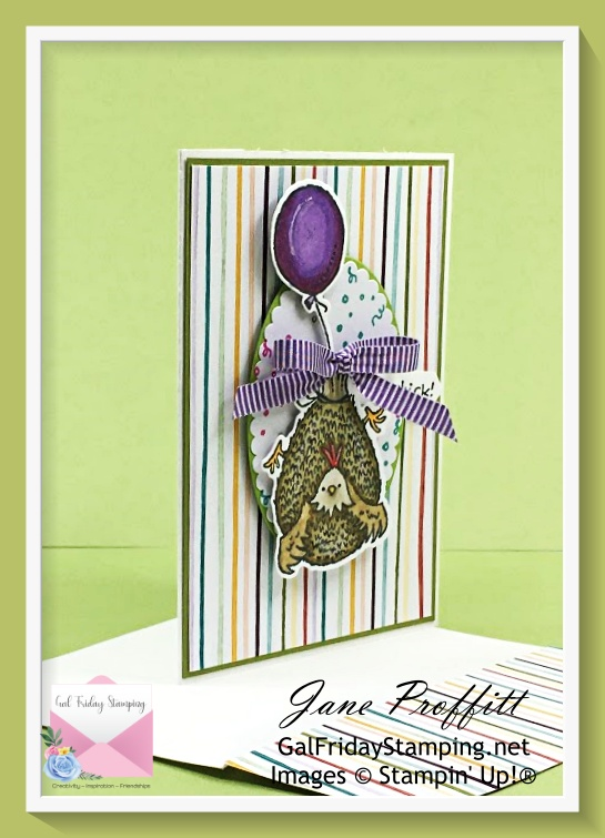 Hey Birthday Chick Bundle from Stampin' Up! is coming in for a landing today for Simple Saturday.