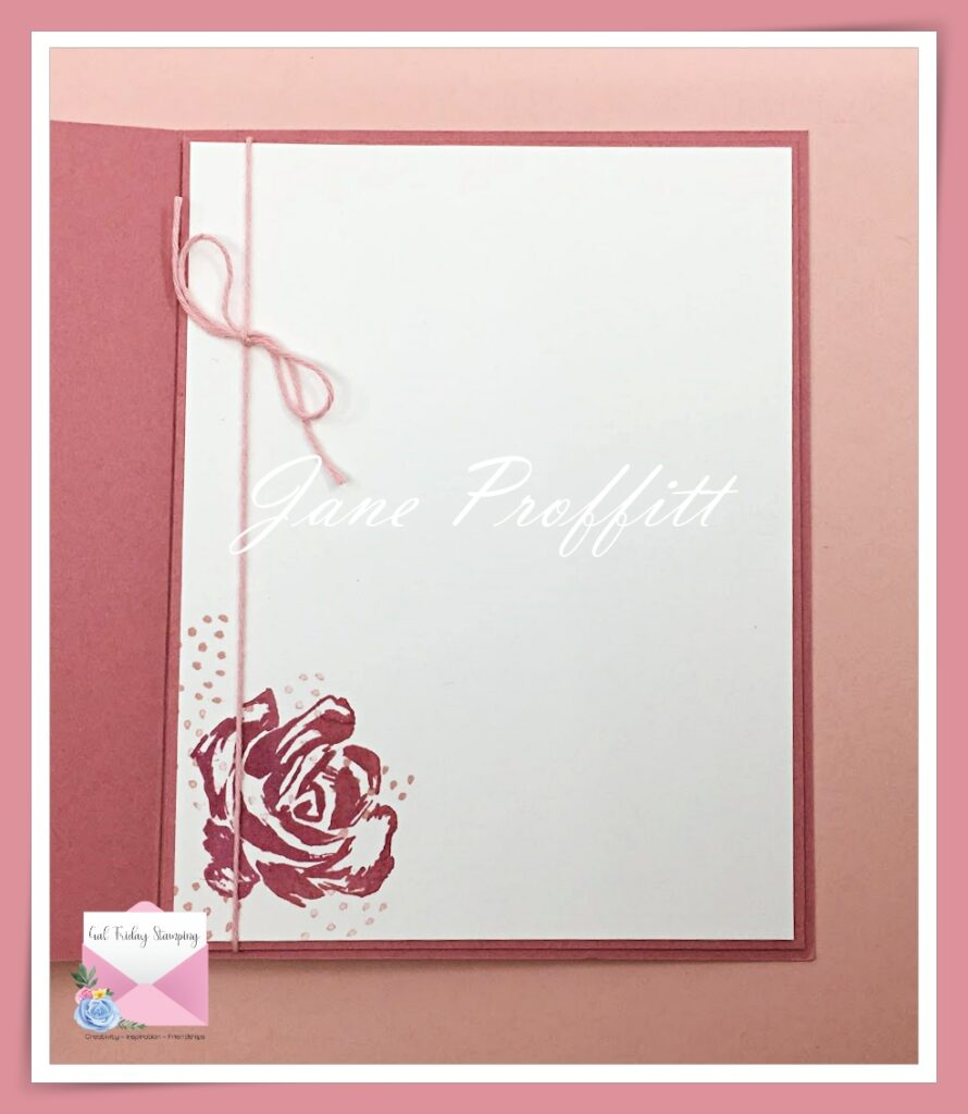 Don't forget the inside of the card.  There is no sentiment included with this card so you can add a sentiment when you need a card for a special occasion.
