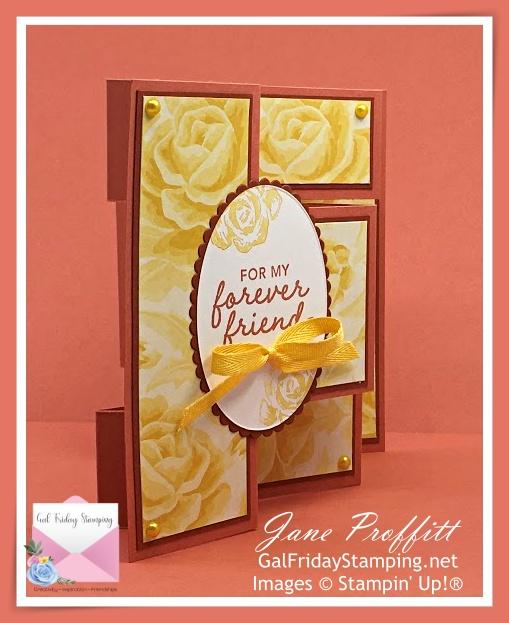 Terracotta tile, cajun craze and Flowers for Every Season designer series paper.