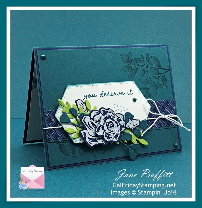 Retiring Pretty Peacock Card using SU Brushed Blooms