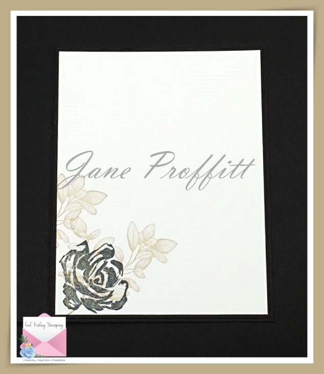 Don't forget the inside of the card and tie it to the front of the card.