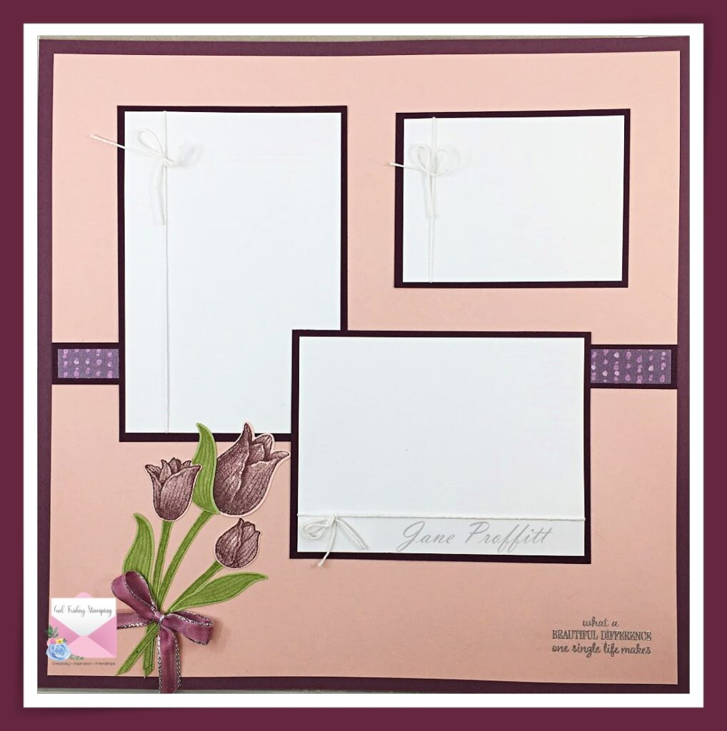 Timeless Tulips to Welcome Spring with Scrapbook Sunday's layout.
