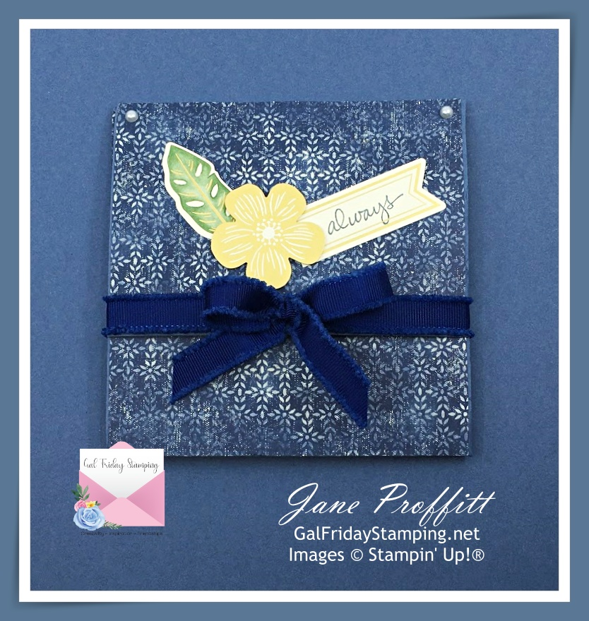 Brag book using the Boho Indigo Product Medley.  See how it was created by heading to my FB group or YouTube