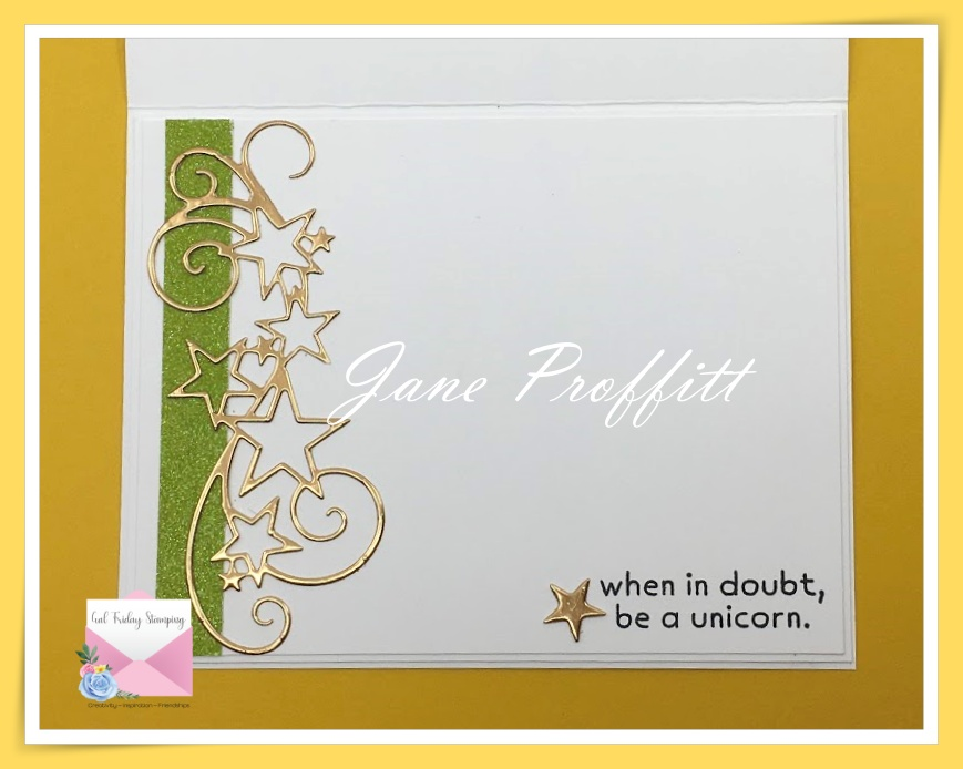 Don't forget the inside of the card and pull elements from the front of the card to embellish it.