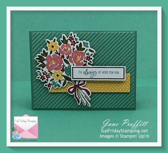 Card created with the February Paper Pumpkin kit which is an alternative to the instructions.