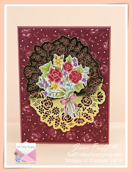 Stamped image from the February Paper Pumpkin kit and colored with Stampin' Blends.