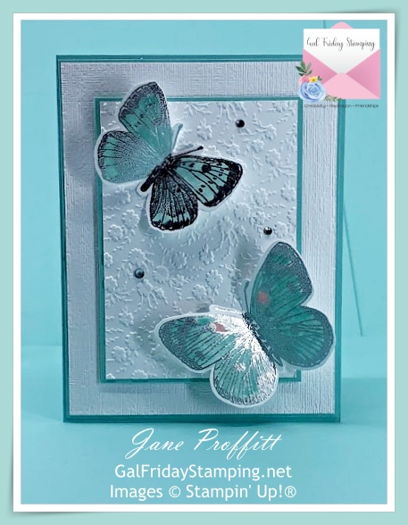 Lots of layers and textures for this card created with the Butterfly Brilliance bundle.
