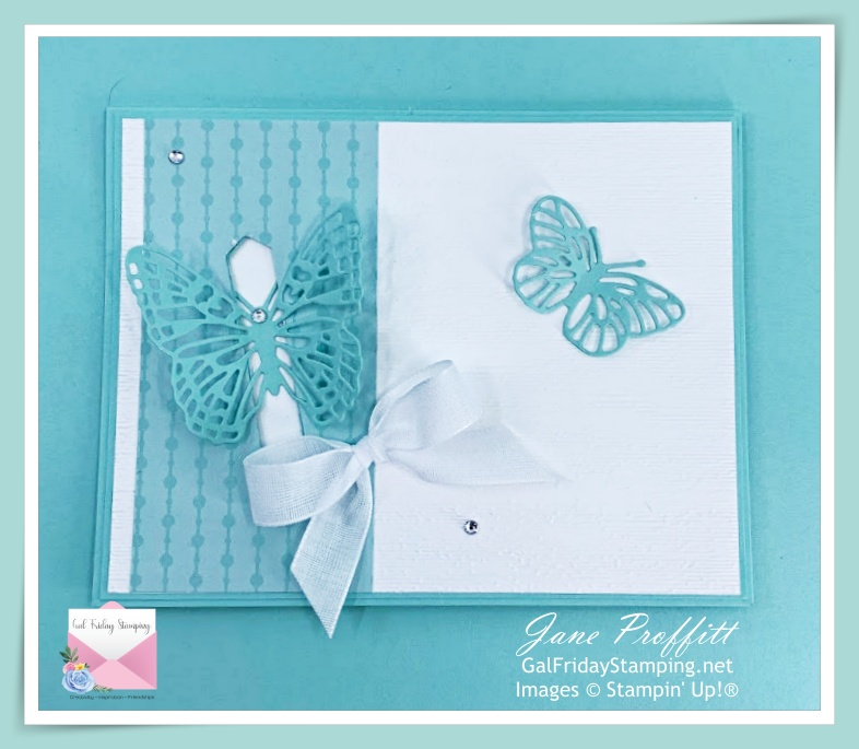 Locking card front using one of the butterflies from the Butterfly Brilliance bundle.