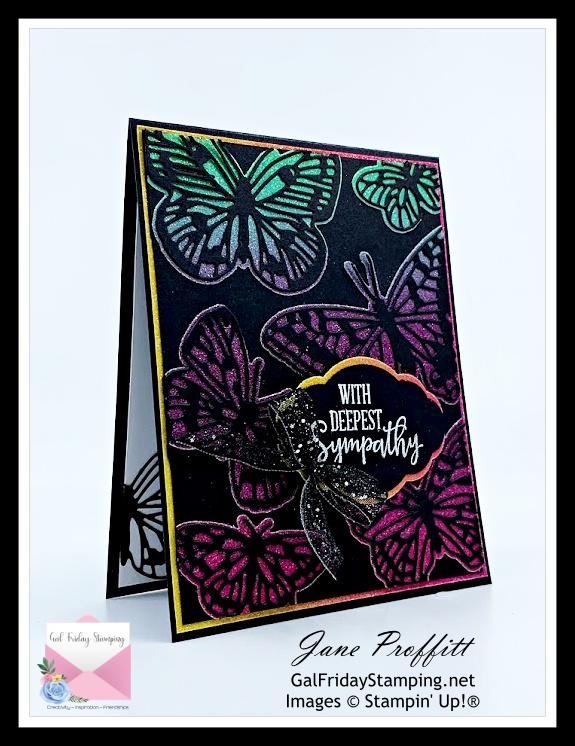 Sympathy card using Butterfly Brilliance is my card for Simple Saturday today.