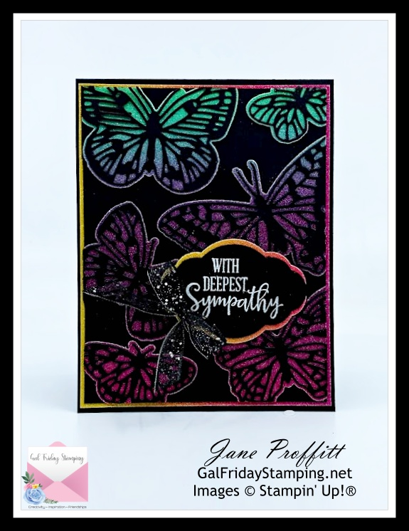 This card using Butterfly Brilliance is being offered as a free pdf on this weeks newsletter.