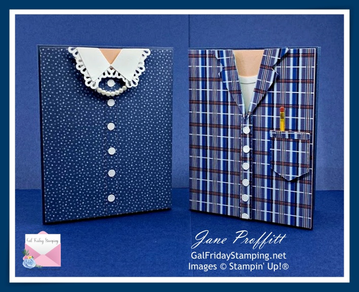 """Well Suited """"Couple"""" cards for Mother's Day or Father's Day."""