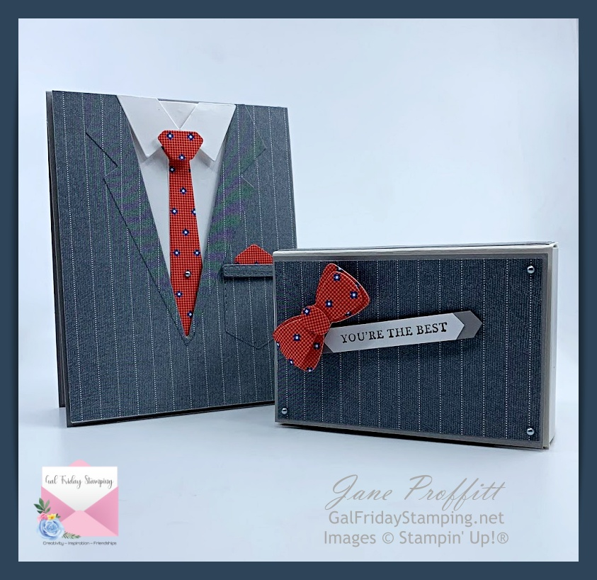 Well Suited Suite card and treat box created during Thursday Night Live