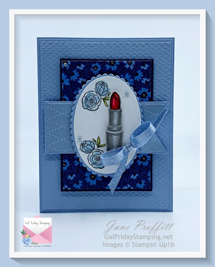 Such pretty colors using the retiring Seaside Spray card stock and the Well Suited suite dsp.