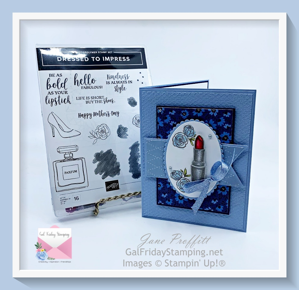 Card created with the Dressed to Impress bundle from Stampin' Up!