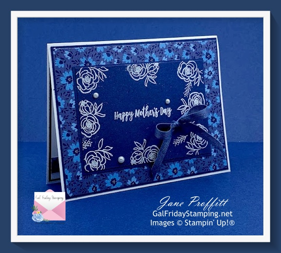 Quick and easy Happy Mother's Day card using the Dressed to Impress bundle.