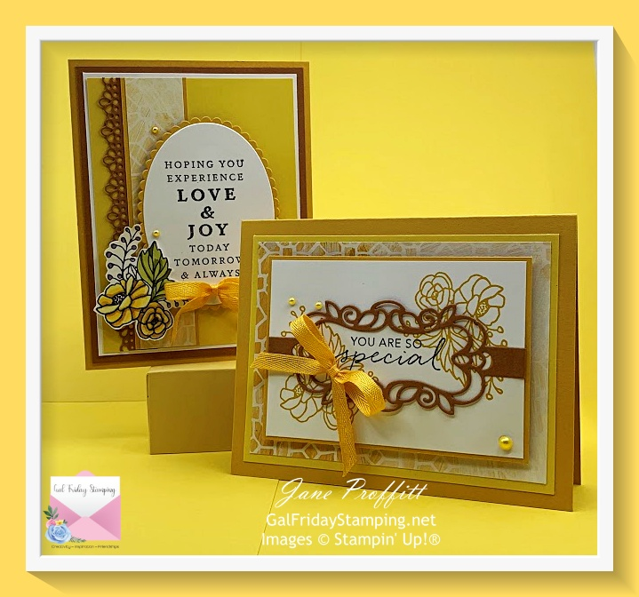 Thursday Night Live cards using the stamp set from Stampin' Up! Last a Lifetime and the sentiment from Tasteful Touches