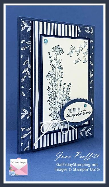 Monochromatic Dragonfly Garden Card from SU