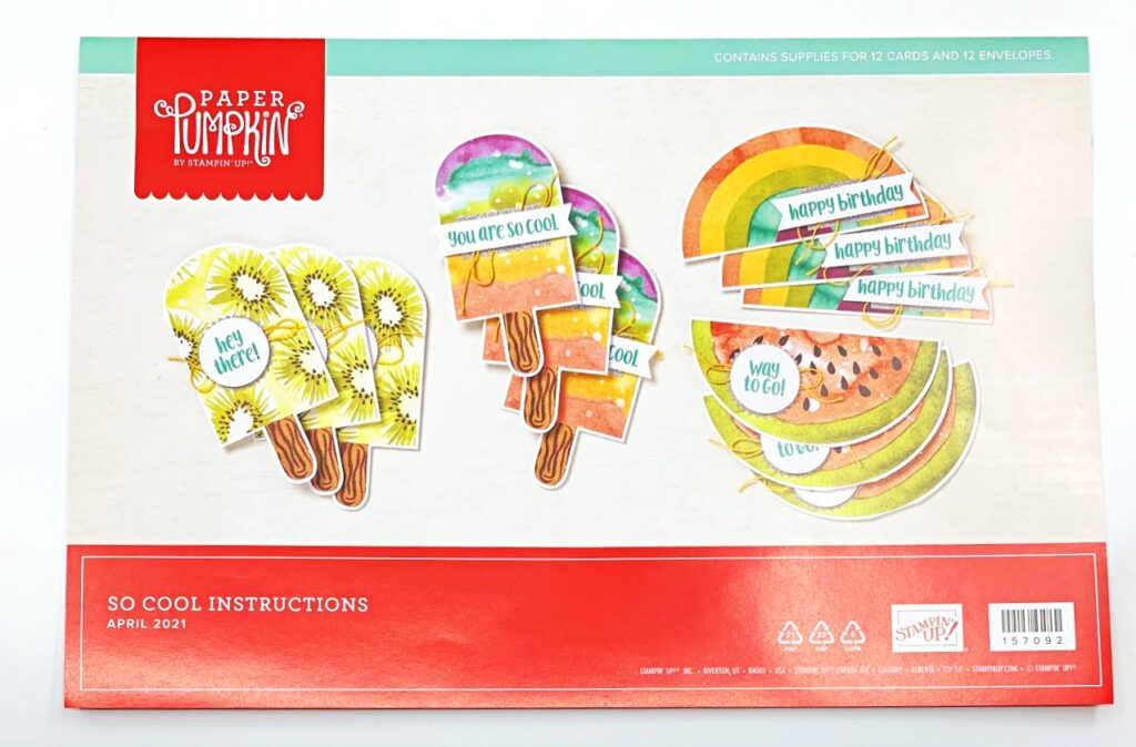 Paper Pumpkin monthly subscription for April is a fun and colorful card kit.