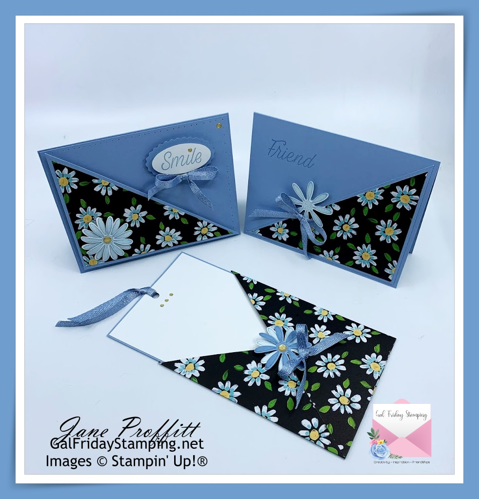 Three of the 6 cards that can be created with one sheet of designer series paper for a one sheet wonder.