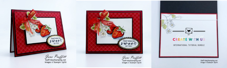 My Sweet Strawberry card created for the International Tutorial Bundle.