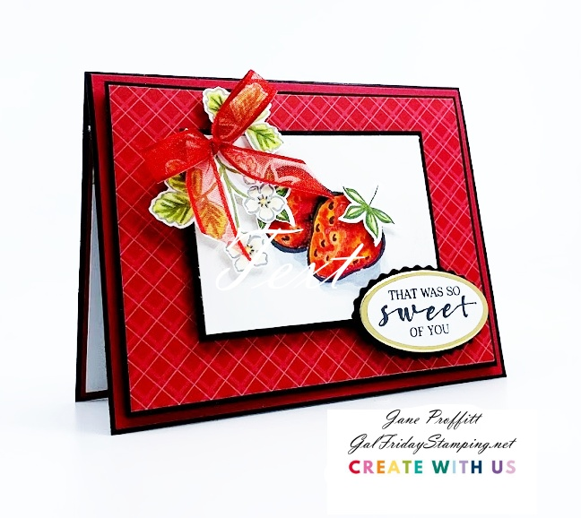First Project created for the International Tutorial Bundle team using the Sweet Strawberry bundle from Stampin' Up!