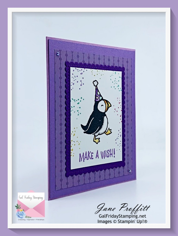 It is another Simple Saturday with the Party Puffins stamp set that will be released on May 4th.