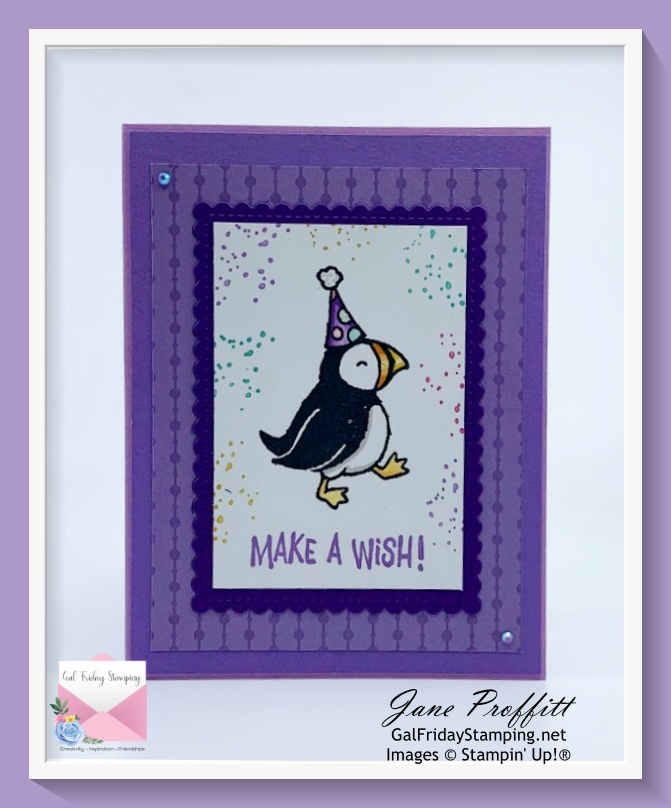 This little puffin is heading your way so you can make a wish on your birthday.