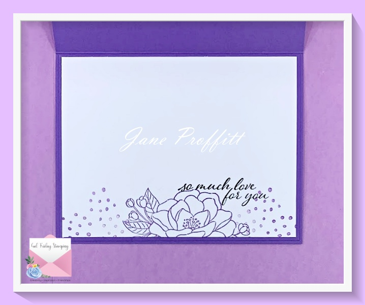 Don't forget the inside of the card.  I pulled the flower from the So Much Love stamp set and added the sentiment.