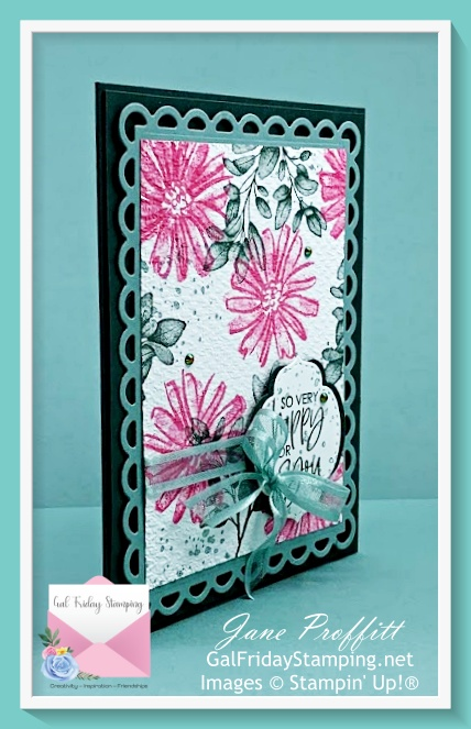 Let's play with some new product called Color & Contour from Stampin' Up!  Not only is the stamp set new, but so are the colors.