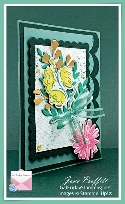 Card created for the Color & Contour weekly showcase.  Using new In Colors and a bit of Forever Fern dies.