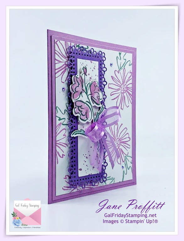 Color & Contour stamp set from Stampin' Up!  This newly released set creates beautiful and artsy cards.