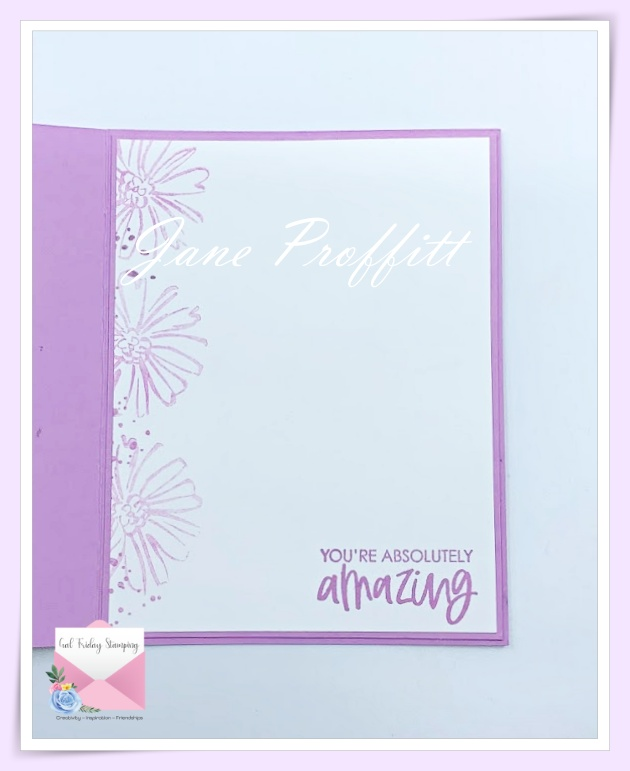 Don't forget the inside of the card.  Pull those elements from the front of the card to the inside.