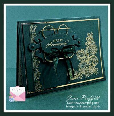 Simply Elegant Card in Evening Evergreen
