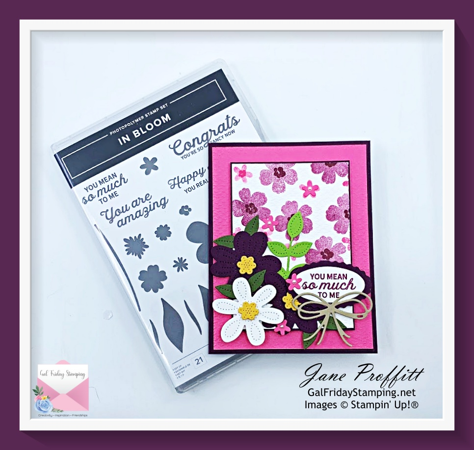 Back in the craft room with the In Bloom stamp set.
