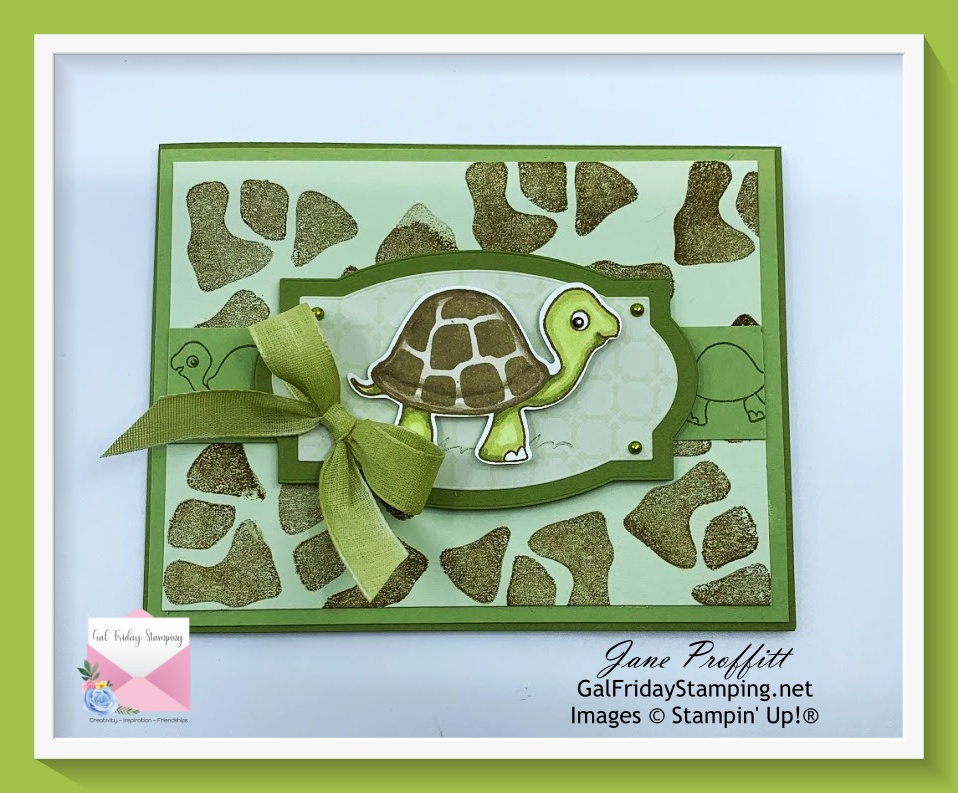 Another card using the Turtle Friends Bundle live tonight.